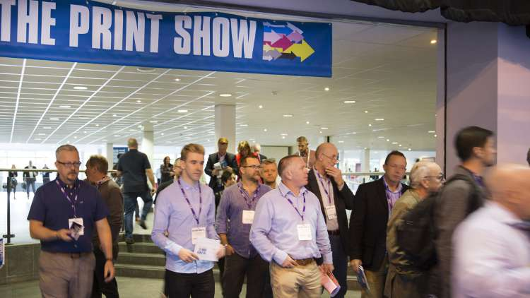 The Print Show 2017 – A busy entrance hall at The Print Show 2017, which took place at the International centre in Telford, but will return to the NEC in Birmingham for 2018.
