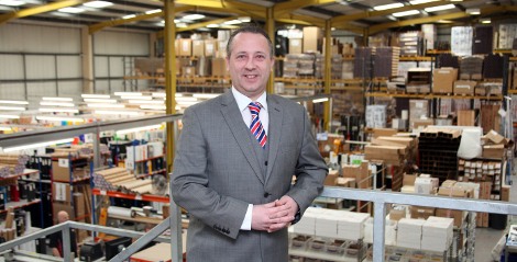 HEXIS UK Scott Wilkins in warehouse LFR