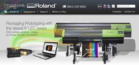 New Roland Homepage