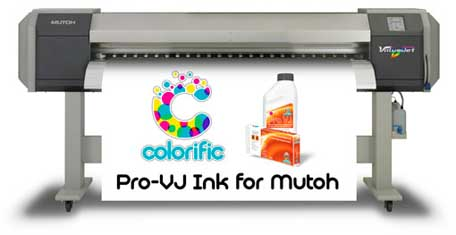 colorific vj 1604 TJs save 50% by switching their Mutoh to Colorific ink