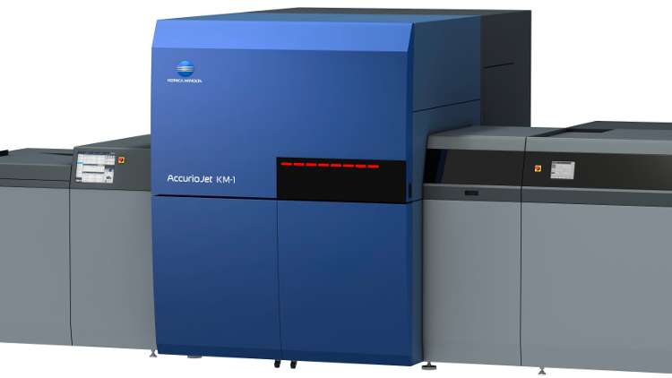 Other major plans for the Konica Minolta AccurioJet KM-1 include a fully automated inline finishing solution in partnership with Rollem International.