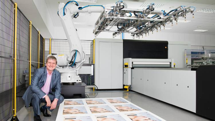 UK POS printer invests in Inca Digital Onset X3 with new robotic arm system supplied by Fujifilm as part of multi-million pound investment over three months.