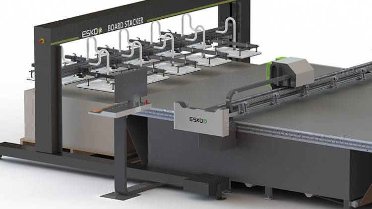 At FESPA, a Kongsberg C64 cutting table  equipped with a Feeder and Stacker will be on display.