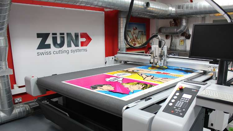 Spandex has a Zünd G3 digital cutting table on display in its showroom, where it will form part of the hands-on workflow demonstrations at the event.