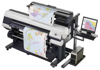 The Colortrac Ci 40 scanner with the Canon imagePROGRAF 820 large format printer