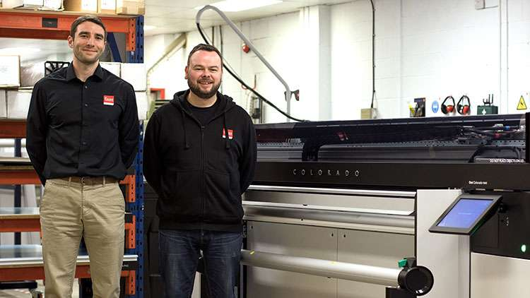 Arriving in Bigger Printing's production facility towards the end of 2017, the Canon Océ Colorado 1640.