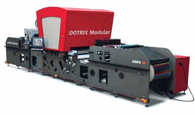 Agfa's High Speed Digital Press, the :Dotrix Modular, to Run Live at Print '09