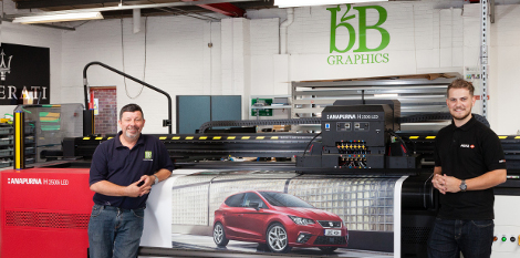 B2B Graphics invests in a new Anapurna H2500i LED hybrid inkjet printer with Asanti workflow.