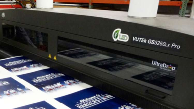 Evolution Achieves High-end, Higher-volume Success with EFI VUTEk LED Hybrid Printer.
