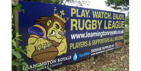 Leamington Rugby Sign