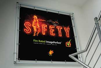 Spandex materials within its ImagePerfect™ Signage range now have fire-resistance rating certificates
