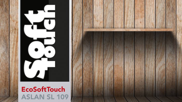 EcoSoftTouch ASLAN SL 109 the environmentally-friendly soft touch film gives prints an increased colour brilliance.