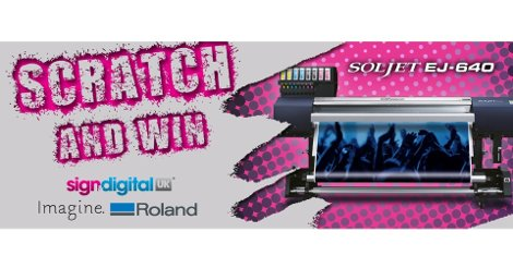 Roland DG's Scratch and Win Prize Draw at SDUK16