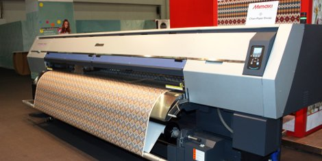 The 3.2m TS500P-3200 transfer paper printer, a recent Mimaki release