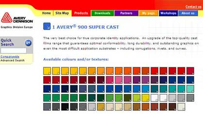 Avery Dennison Colour Selector