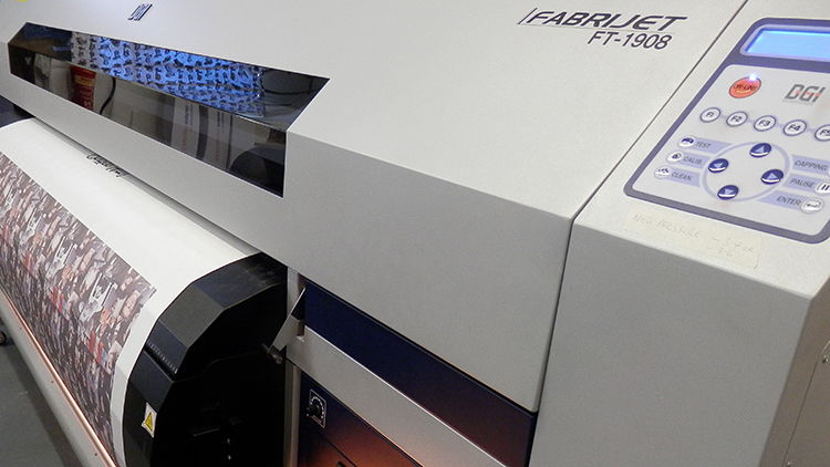The DGI FT-1908 has eight state-of-the-art Panasonic print heads, a variable droplet and easy fill bulk ink system.