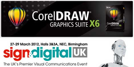 Special offers and live demos of Corel X6 at Sign & Digital 2012