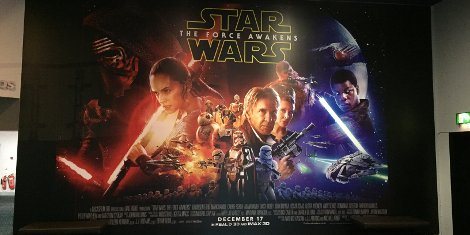 Star Wars: The Force Awakens Cineworld Wall Graphic (Broad St, Birmingham)