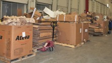 Orbus Allocates two full dock bays for recycling sorting & distribution.