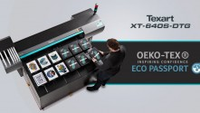 Roland DG demonstrates commitment to sustainability with ECO PASSPORT by OEKO-TEX certified inks and primers for Texart XT-640S-DTG printer.