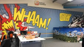 Whaam! N3 Display Graphics makes an impact with Drytac wall art.