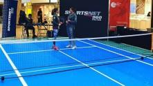 Anyone for tennis? Drytac SpotOn Floor 200 takes to the court.