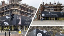 Embrace Building Wraps installs the UK's first PVC-free printed scaffold wrap.