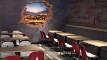 Specialist Signs choose General Formulations vinyl from Innotech Digital for stunning restaurant wall display.