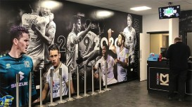MK Dons kicked off new year with 'amazing' new Drytac graphics.
