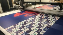 Manchester Print Services meets demand for fabrics with Blackman & White laser finishing.
