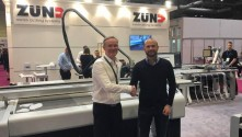 Mat Jephcott (pictured with Steve Rowbotham at Sign and Digital UK) says Hollywood Monster's decision to buy a second Zünd G3 was a 'no-brainer'.