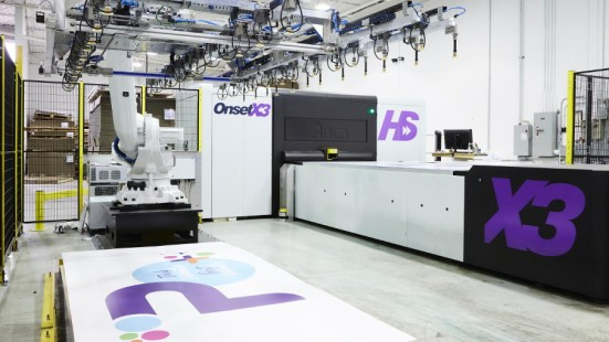 Speed, Efficiency, & Robotics: Proprint Services trims time with its Fujifilm Inca OnsetX3 HS flatbed printer.