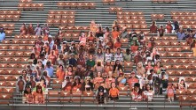 Ricoh partner UT Print San Antonio has printed hundreds of photographic cutouts of fans of the Texas Longhorns to help populate the stands under social distancing restrictions.